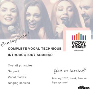 CVT seminar with Delia Ivan vocal coach