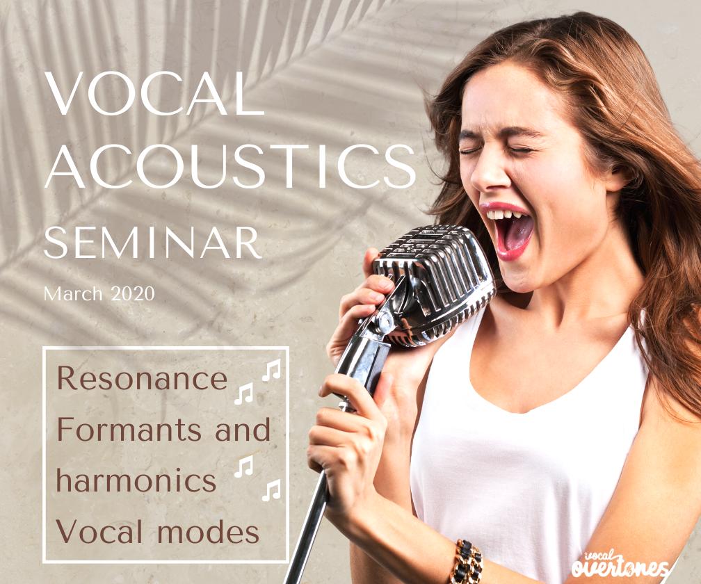 vocal acoustics seminar with vocal coach Delia Ivan